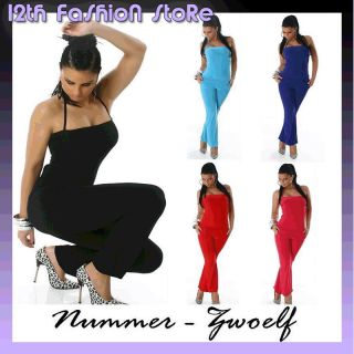 NEU SEXY OVERALL CATSUIT GoGo JUMPSUIT NECKHOLDER S M
