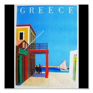 Poster Vintage Travel Greece