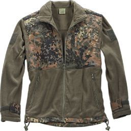 FLEECE JACKE PATCH FLECKTARN, Paintball, Gotcha, Gr. L