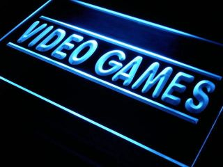 j273 b Video Games Shop Beer Bar Pub Neon Light Sign