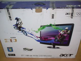 Acer HN274H Bbmiiid 68cm LCD TFT 120Hz 3D Monitor Display VGA DVI 3x
