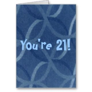 21st Birthday Humor Greeting Card