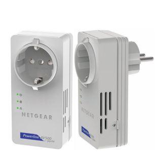 NETGEAR XAVB5601 Powerline AV+ 500 Nano Adapter Set, Power LAN