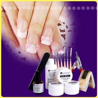 Nagelstudio Nail Art UV Gel Starter Set Top Coat Cleaner Aufbau Gel