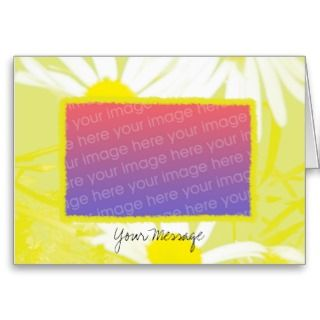 Yellow and White Daisy Greeting Card Template
