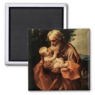 Joseph with Baby Jesus Magnet