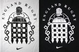Nike Rugby RFU Team Herren Sport T Shirt Shirt Größe M Tall L