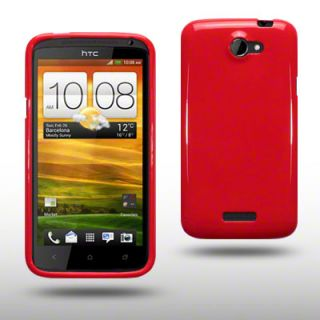 TPU GEL CASE/COVER FOR HTC ONE X   SOLID RED