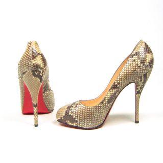 Amber Rose Christian Louboutin Snakeskin Heels Size 41