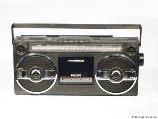 PHILIPS D8050 STEREO RADIORECORDER RADIO GHETTOBLASTER BOOMBOX