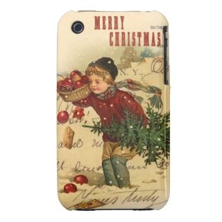 Merry Christmas Vintage Christmas Collage iPhone 3 Case Mate Cases