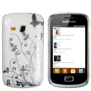 mumbi Schmetterling Blumen Hülle Samsung Galaxy Mini 2 Schutzhülle