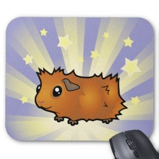 Little Star Guinea Pig (scruffy) Mouse Pads