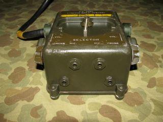 Control Box C 375/VRC + Kabel, US Army Funkgerät RT 66