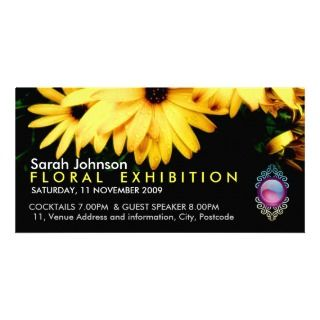 Floral Exhibition Promo Card Photo Card