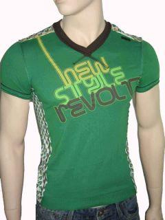 Energie Herren Shirt T Shirt V Ausschnitt grün Gr. S M