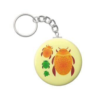 Scarab Beetle Keychains