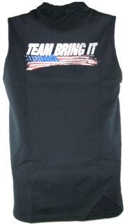 The Rock Team Bring It USA Sleeveless Muscle T shirt Black