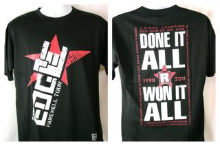Edge Farewell Tour Done It All Won It All WWE Black T shirt New