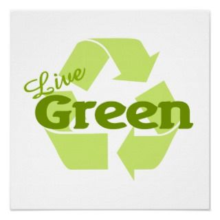 Live green with this great go green inspired design! If you want to