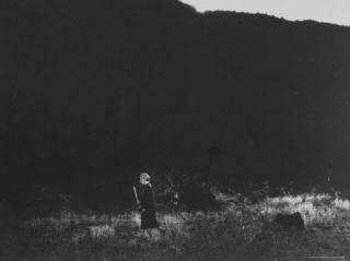 Georgia OKeeffe, 80 Year Old Pioneer of Modern American Art, Taking Morning Walk at Ghost Ranch Premium Photographic Print by John Loengard