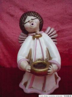 Schöner,großer Keramik Engel, mit Kerzenleuchter, Thun, Botzen