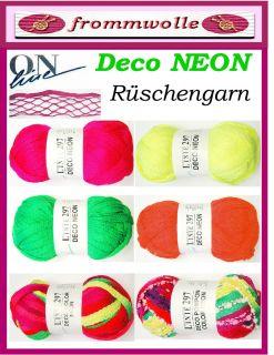 DECO * NEON * Linie 297 ONline Wolle Rüschenschal stricken