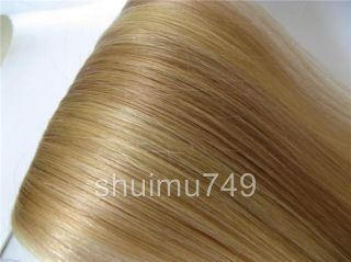 20 7pcs Real HUMAN HAIR CLIP IN EXTENSIONS #18/613,70g
