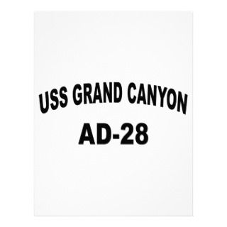 USS GRAND CANYONE (AD 28) LETTERHEAD DESIGN