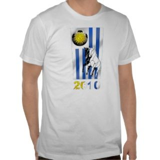 Uruguay 2010 Soccer Futbol Churruas flag Tee Shirt