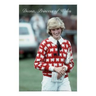 Poster No.4 Princess Diana enjoys a day out to watch polo, Windsor