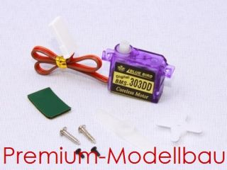 BMS Blue Bird Digital Ultra Micro Servo 303DD 3,4g