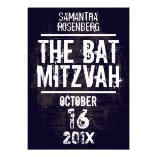 Rock Band Bat Mitzvah Invitation