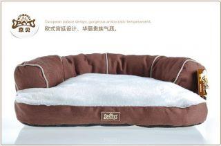 New Soft Pet Dog Cat Sofa Bed House Kennel Medium Borwn