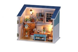Puppenhaus Dollhouse Miniatur Living Room DIY Spielzeug Puppenstube