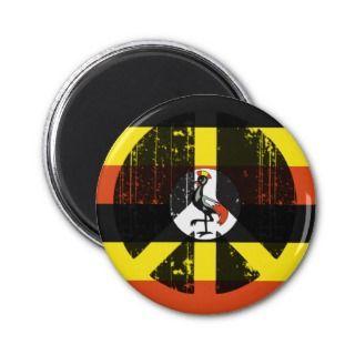 Peace In Uganda Fridge Magnets