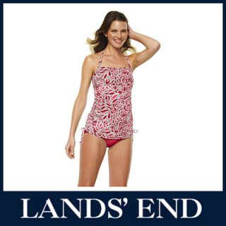 LANDS END Damen Träger Top Top Tanktop Shirt rot *Sale