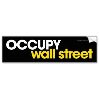 Occupy Wall Street v.1 Bumper Stickers
