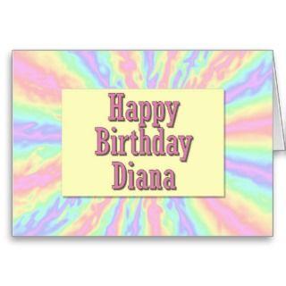 Happy Birthday Diana Card