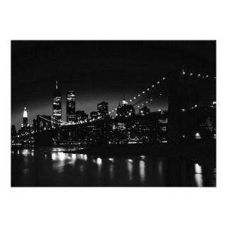 BW New York City at Night Invitation