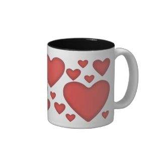 Valentines Red Heart Coffee Mug