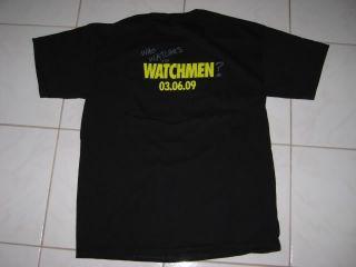 THE WATCHMEN Movie Premiere T Shirt Medium M comicon