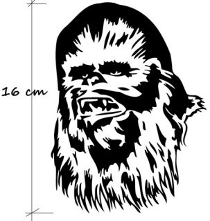 Star Wars Chewbacca Auto AUFKLEBER Polo VW Golf DUB IPAD Car Sticker