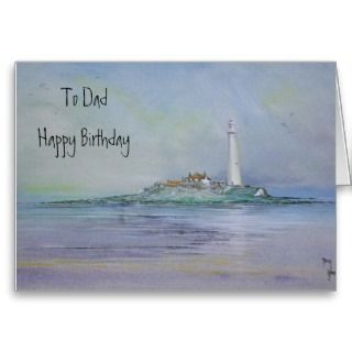 St Marys Lighthouse To Dad Happy Birthday Card