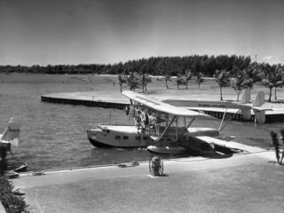 Sea Plane at Dock Photographic Print by George Marks