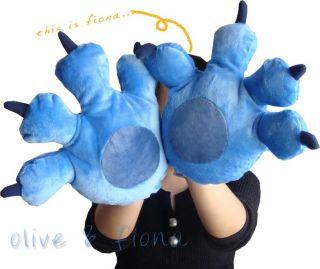 2x Stitch Jumbo Paw Gloves Disney Lilo & Stitch Plush