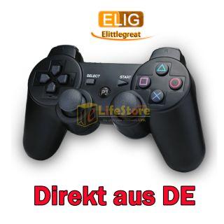 Schwarz Funk Bluetooth Controller/Gamepad Wireless für Sony PS3