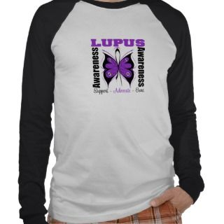 Lupus Awareness Butterfly T shirt