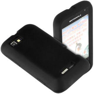Silikon black Case f Motorola Defy Mini XT320 Tasche Schutz Hülle