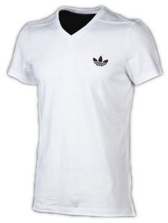 ADIDAS ORIGINALS ADICOLOR AC V NECK T SHIRT ++ weiß ++ S,M,L,XL